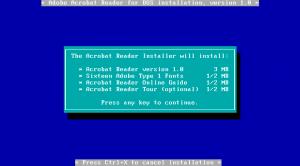 Acrobat Reader 1 Install