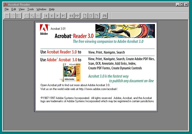 Acrobat Reader 3