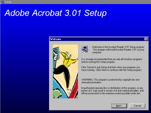 Acrobat Reader 3 Install
