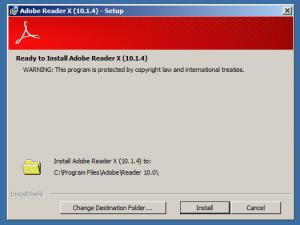Adobe Reader 10 Install