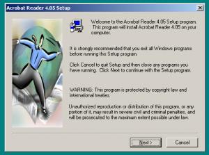 Adobe Reader 4 Install