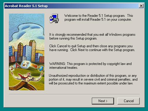 Adobe Reader 5 Install