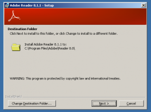 Adobe Reader 8 Install