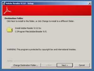 Adobe Reader 9 Install